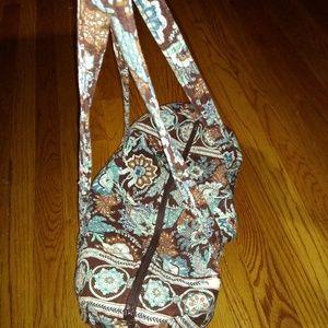 Blue and Brown Vera Bradley Duffle Bag